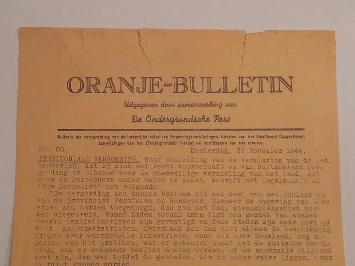 Oranje Bulletin