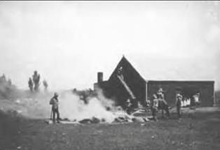 Afgebrande boerderij